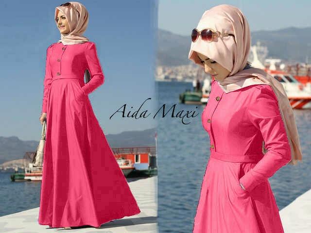 Hijab aida Pink Rose (maxy+pashmina)