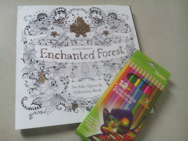 Jual Coloring Book For Adults Enchanted Forest Pencil Warna