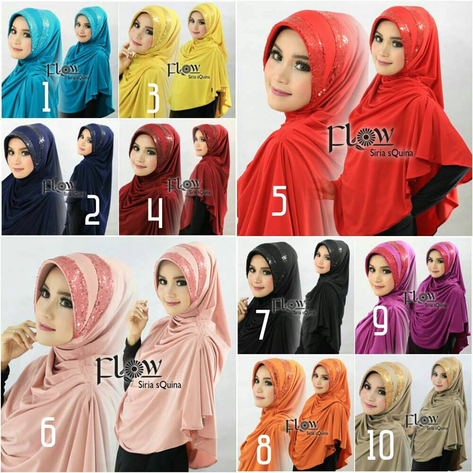 Hijab/Jilbab Syria Squina Premium  Jilbab syria dengan aplikasi sequin