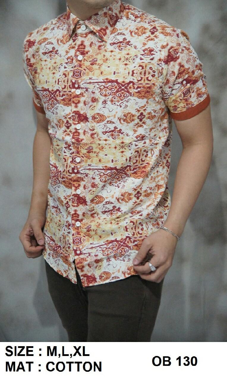 Batik Pria Slim Fit - Kemeja Motif Keren OB130