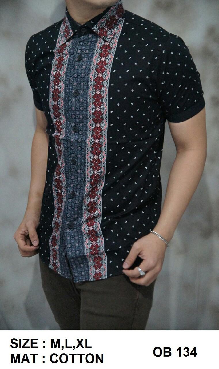 Batik Pria Slim Fit - Kemeja Motif Keren OB134