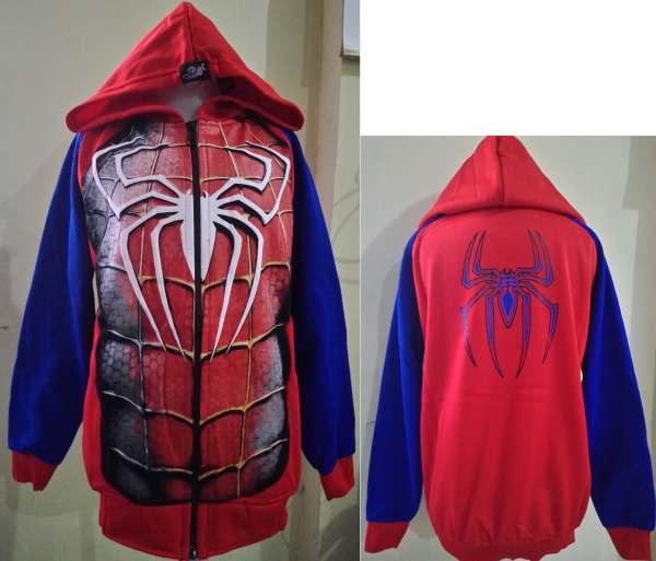 JKKDL39 - Jaket Anak Spiderman Muscle (UNTUK UK XXL)