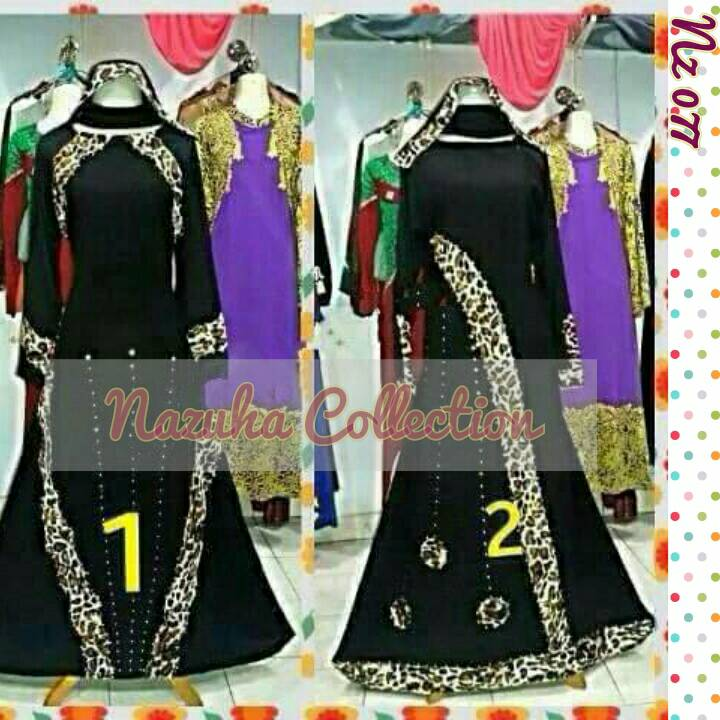 Abaya Leopard (Gamis Syar'i, hijab, dress, gamis arab)