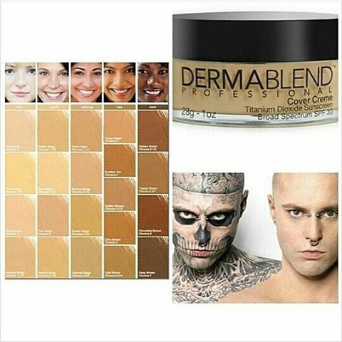 Jual dermablend cover creme broad spectrum spf 30 for Dermablend tattoo cover up video