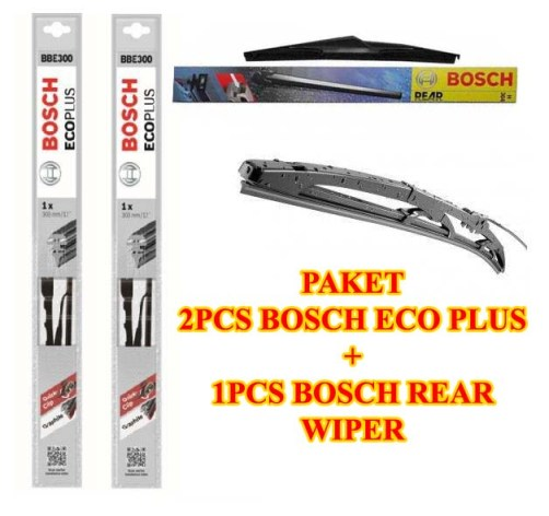 WIPER BOSCH ECO PLUS JAZZ GE 3Pcs (kn-kr dan belakang)