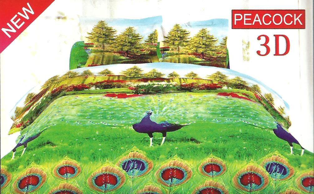 sprei bonita hello kitty play : Sprei Bonita Peacock 180x200