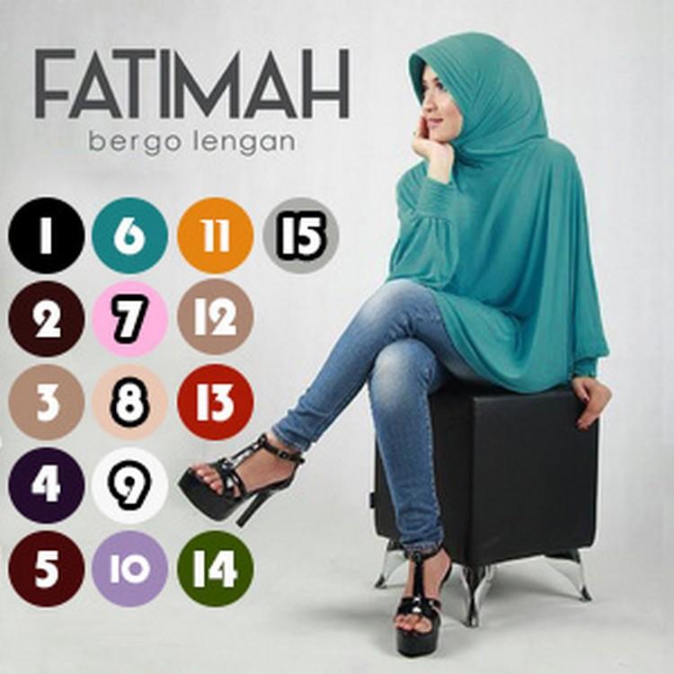JUAL Hijab/Jilbab Fatimah Bergo Lengan MURAH