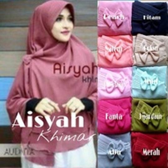 Kerudung/Hijab khimar pet AISYAH + pita