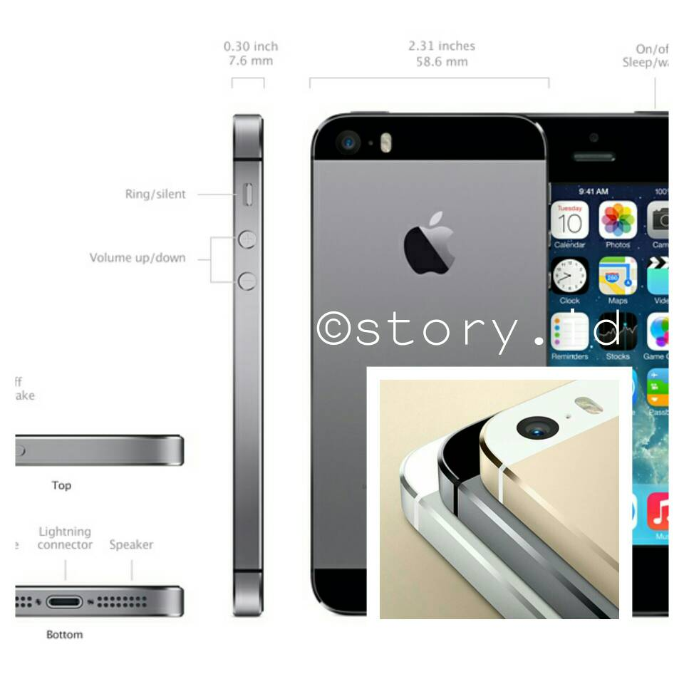 Jual Iphone 5s 32gb Garansi Resmi Ibox Ses Trio Story Acc Tokopedia 7 32 Gb