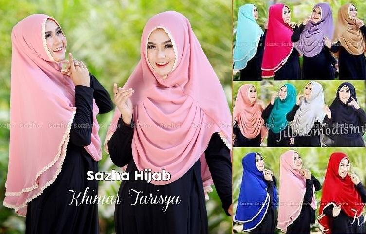 Hijab/Jilbab Khimar Tarisya  Jilbab khimar double ceruti dengan layer