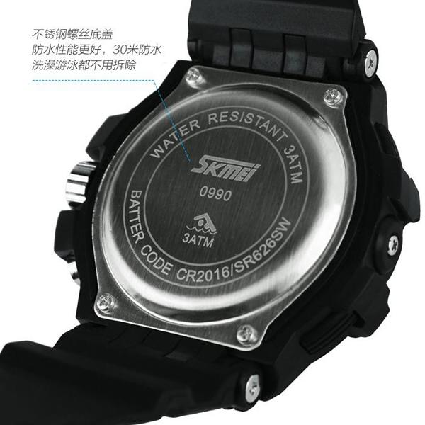 Jam Tangan SKMEI S-Shock Sport Water Resist 30m - AD0990 - White/Black