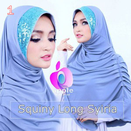 Jilbab / Hijab Apple  Squiny long Syria