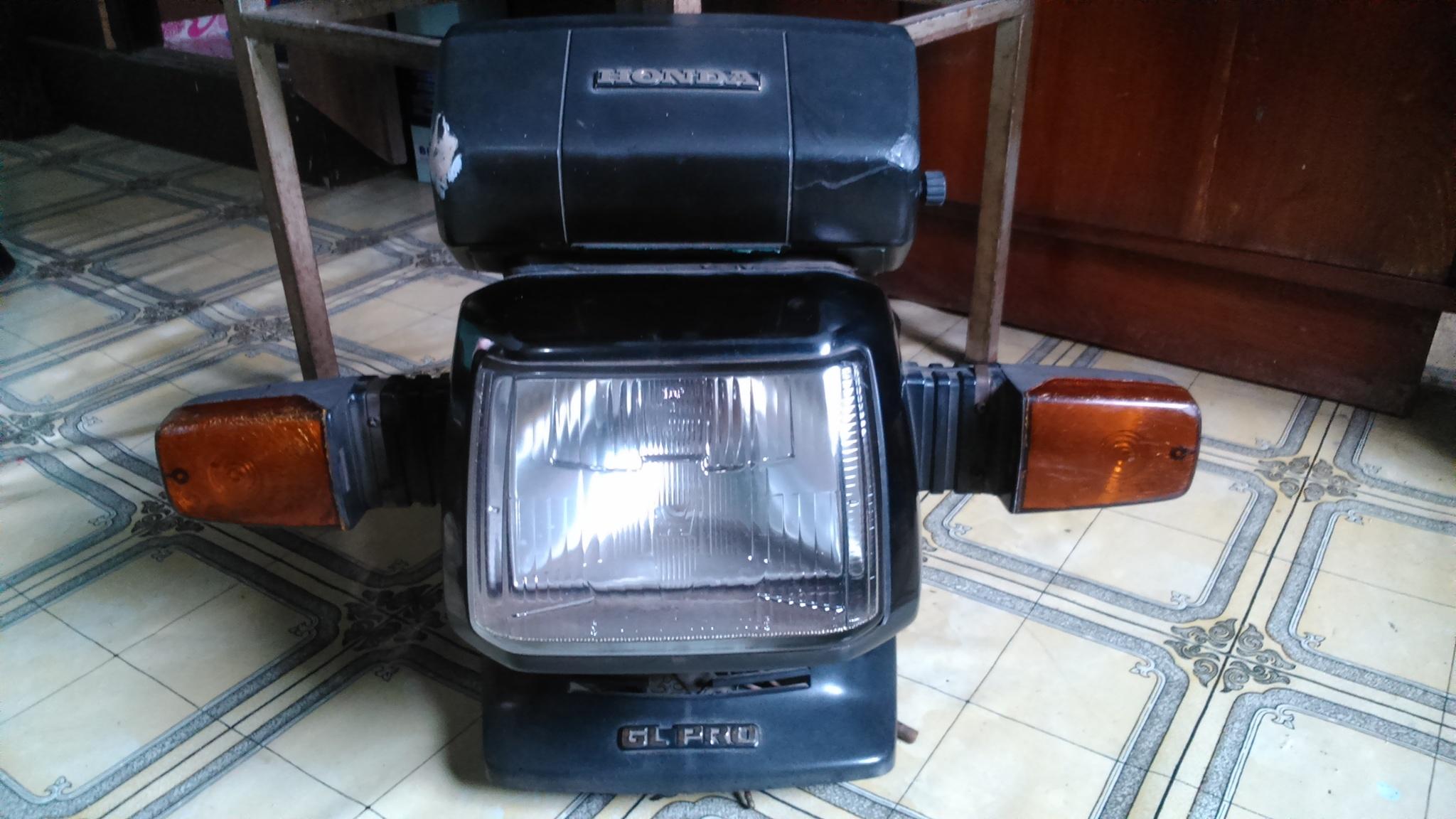jual headlamp lampu depan full set honda gl pro neotech - majid