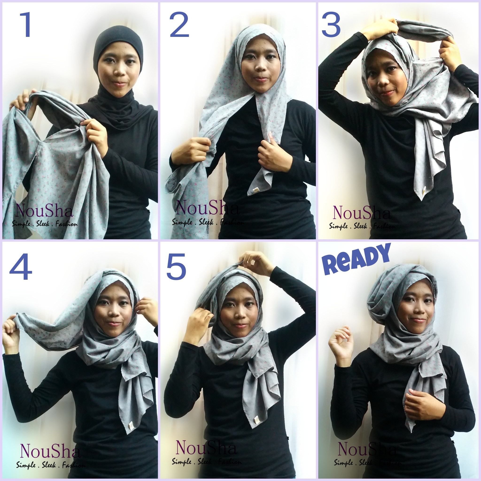 Jual Tutorial Pashmina Instant By NouSha Kerudung Instant