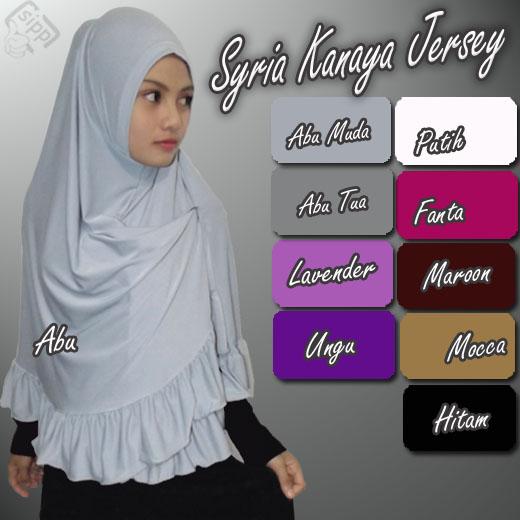 Hijab / Kerudung / Jilbab Syria Kanaya Jersey