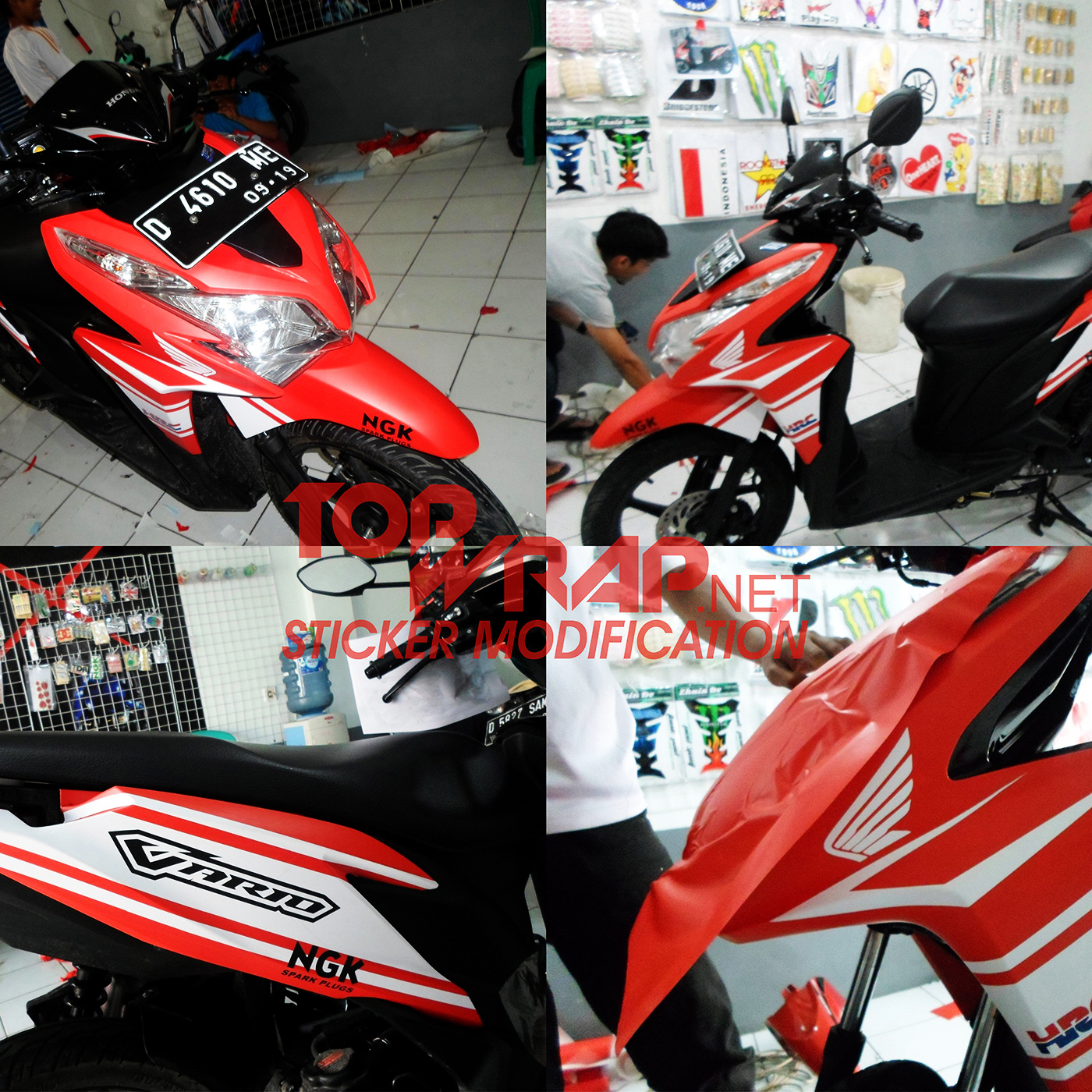 Jual stiker full body vario cutting sticker stiker modifikasi