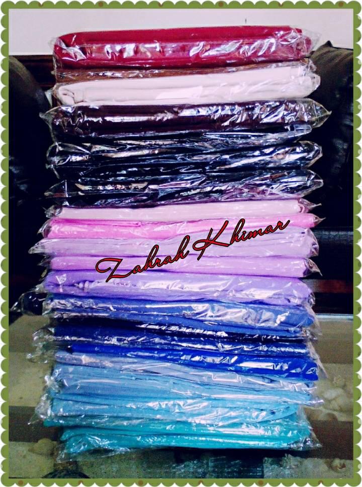 Kerudung/Jilbab/Hijab Segi Empat Wolfis Polos 115cm x 115 cm