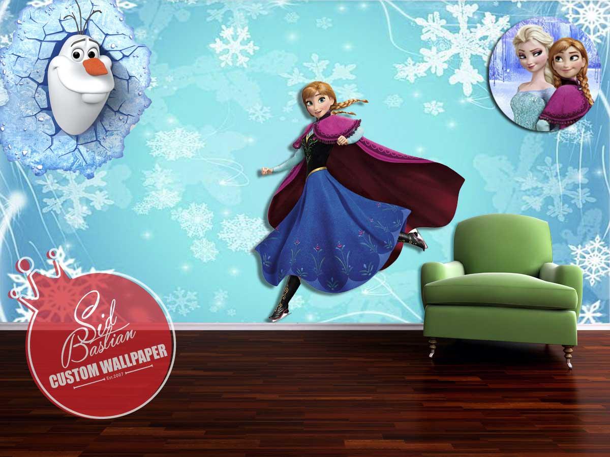 Jual Wallpaper Dinding Custom Tema Frozen Magenta Skinit Tokopedia