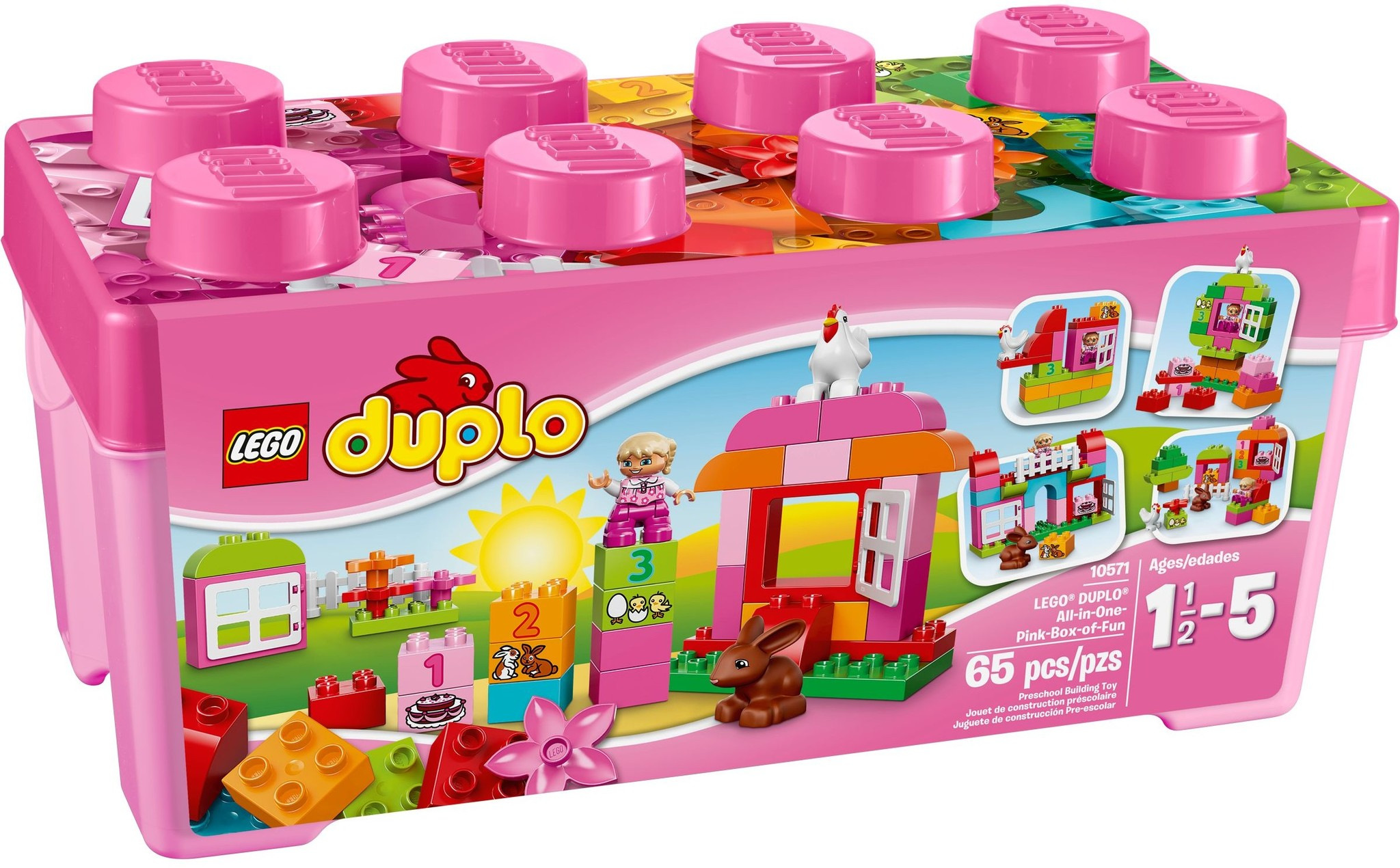 LEGO 10571 - Duplo - All-in-One-Pink-Box-of-Fun