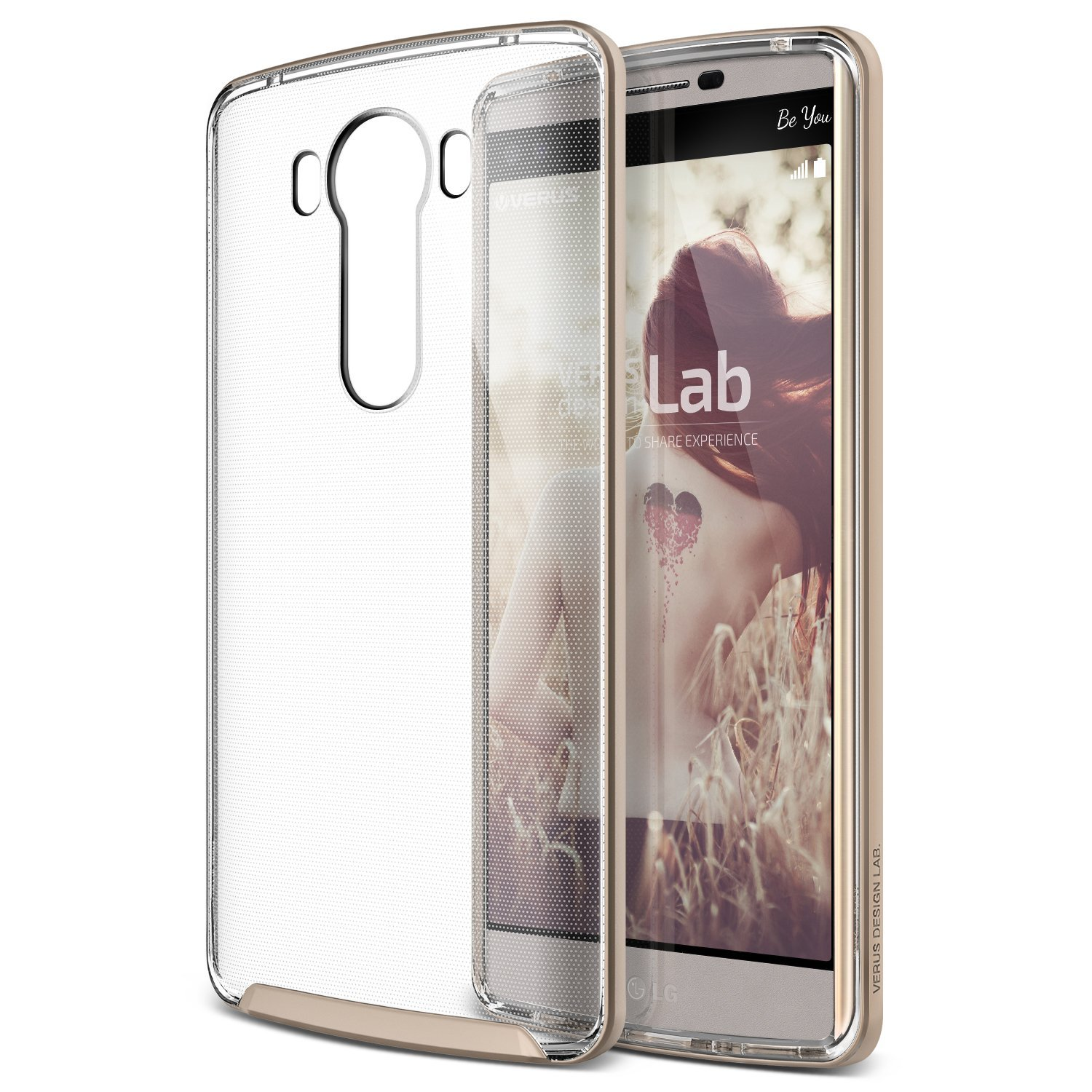 Verus Crystal Bumper for LG V10 Shine - Gold