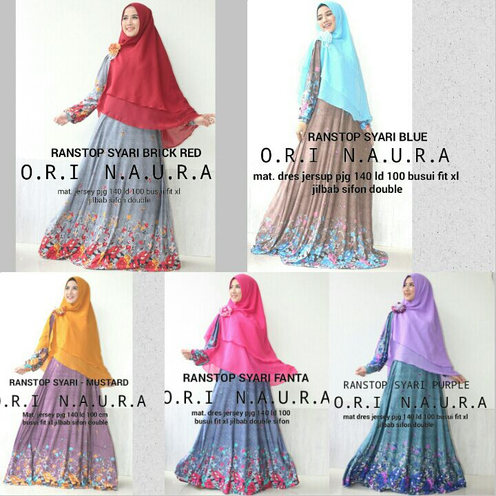 Supplier Hijab Ori : ranstop syari by naura