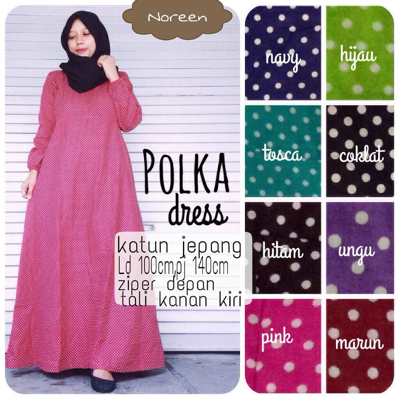 Supplier Hijab Ori : polka dres by noreen