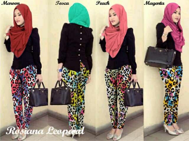 Hijab Rosiana Set 3in1 ( Atasan + celana + Pashmina )