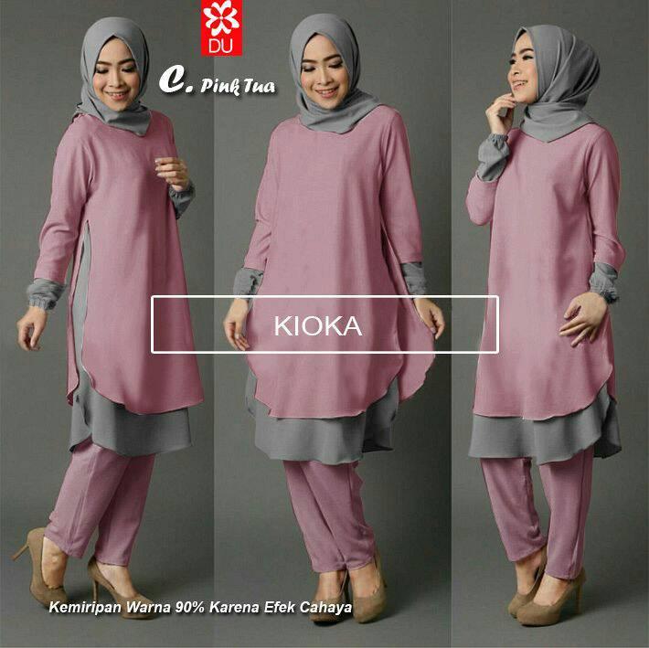 Jual Baju Muslim   Busana Muslim   Baju Gamis   Kioka Setelan - 38 ... 335e6c091c