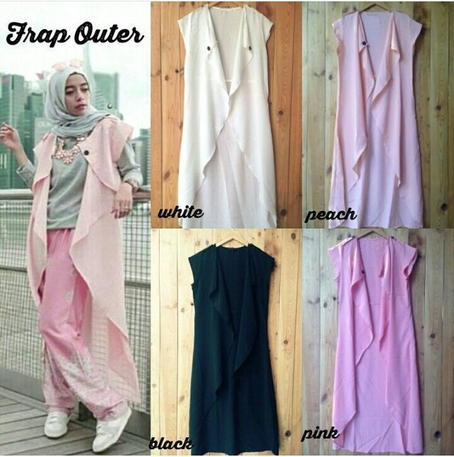 FRAP OUTER LONG VEST ROMPI CARDI SUPPLIER FASHION HIJAB CARDIGAN MURAH
