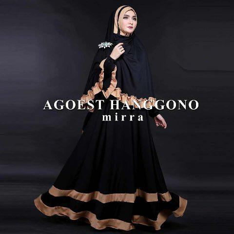 Hijab Bergo Mirra Black ( Maxi + Busui + Bergo )