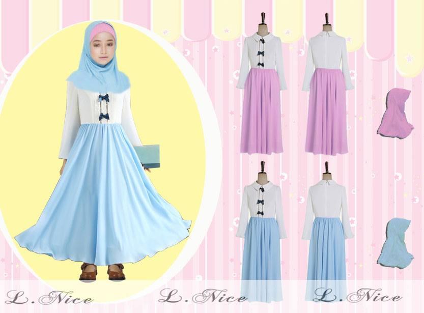 baju muslim anak perempuan modern Source · Jual SLN GAMIS DRESS BAJU MUSLIM ANAK PEREMPUAN JILBAB