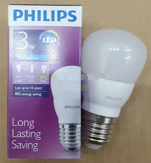 Jual Bohlam LED PHILIPS LAMP 3 WATT Hemat Energi