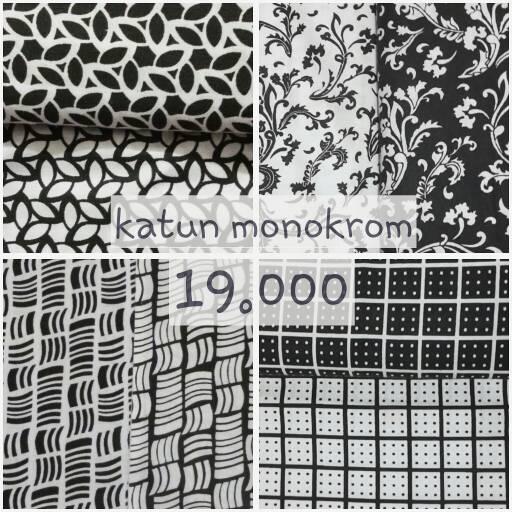 OBRAL kain katun monokrom monochrome untuk hijab / jilbab