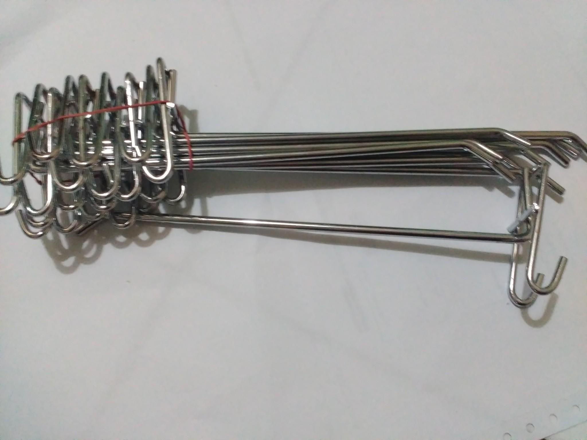 Gantungan Ram 25 cm untk Rak Aksesoris Besi Hook Stainless Chrome