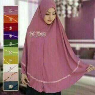 Khimar hijab Jilbab Instan Syari Jumbo Jersey