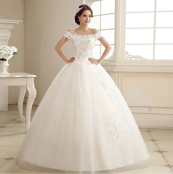 Jual wedding dress gaun pengantin tali lengan 2016 for Wedding dress stores in arkansas