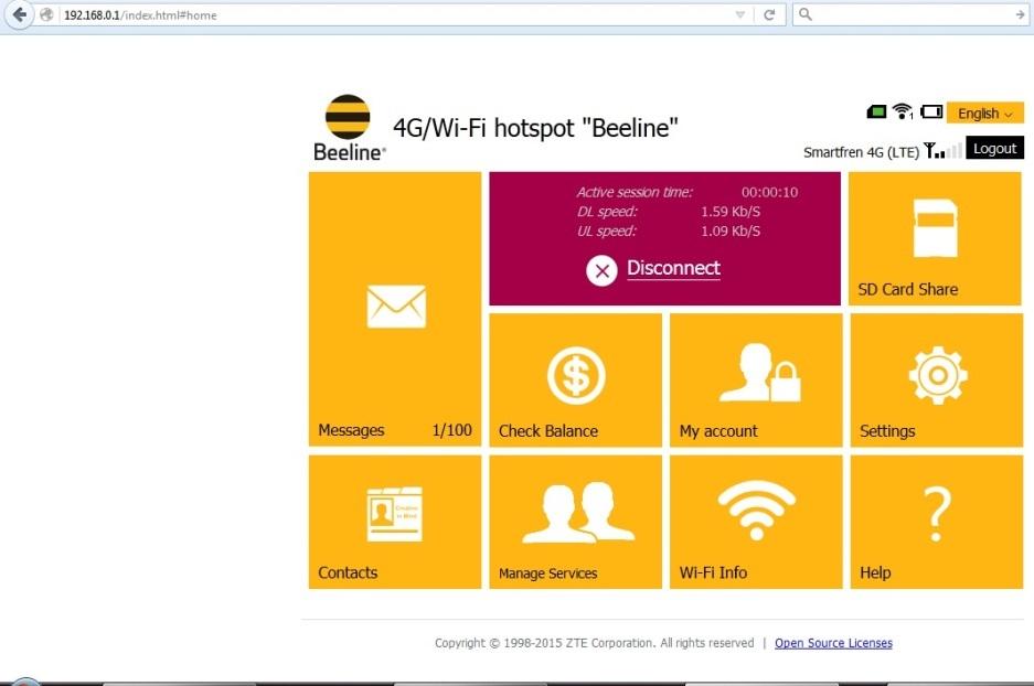 Jual Modem Wifi Bolt ZTE MF90 Firmware B10 Beeline