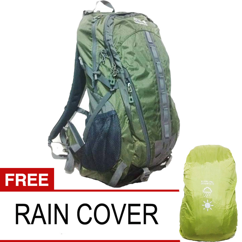 harga Royal Mountain 6097 Tas Carrier Hijau 50 Liter + Rain Coat Tokopedia.com