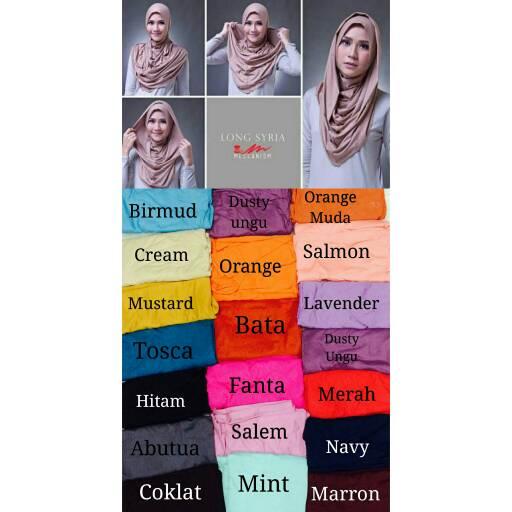 hijab / jilbab instan meccha long
