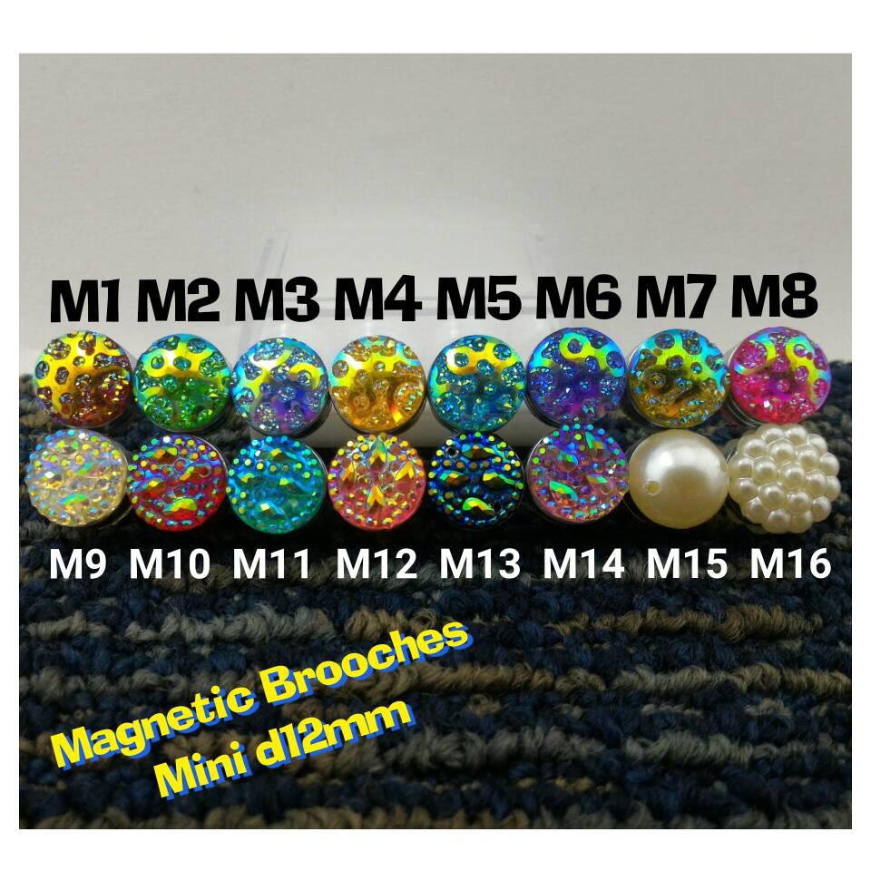 Pin Bross Magnet d12mm Jilbab Hijab Kerudung Unik mewah + kotak