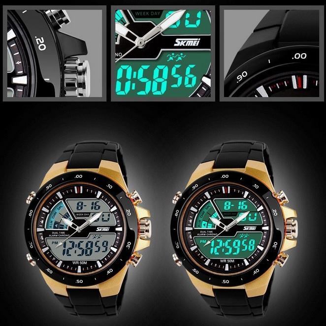 Jam / SKMEI Casio Men Sport LED Watch Water Resistant 50m - AD1016