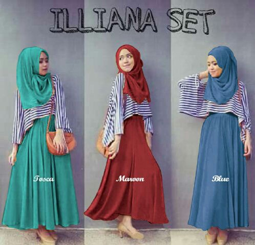 GD-illiana maxi - setelan hijab