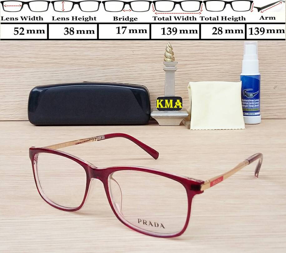 Jual frame prada-frame kacamata minus-frame kacamata cewek ... bdf95e56e7