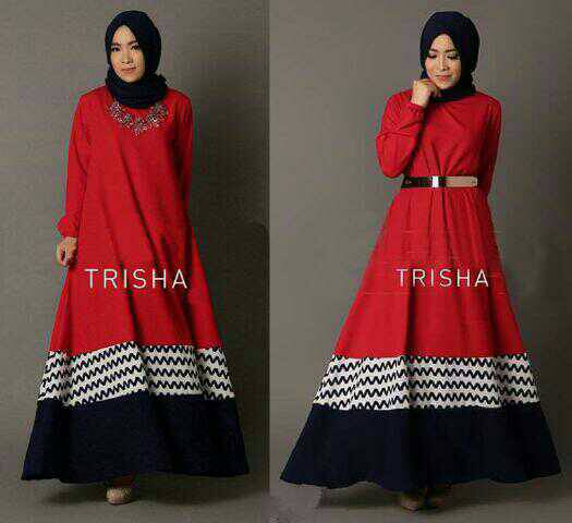 MAXI HIJAB TRISHA RED 2IN1