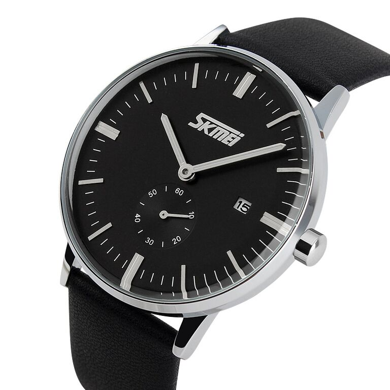 Jam Tangan Pria SKMEI Casual Leather Water Resist 30m - 9083CL - Black