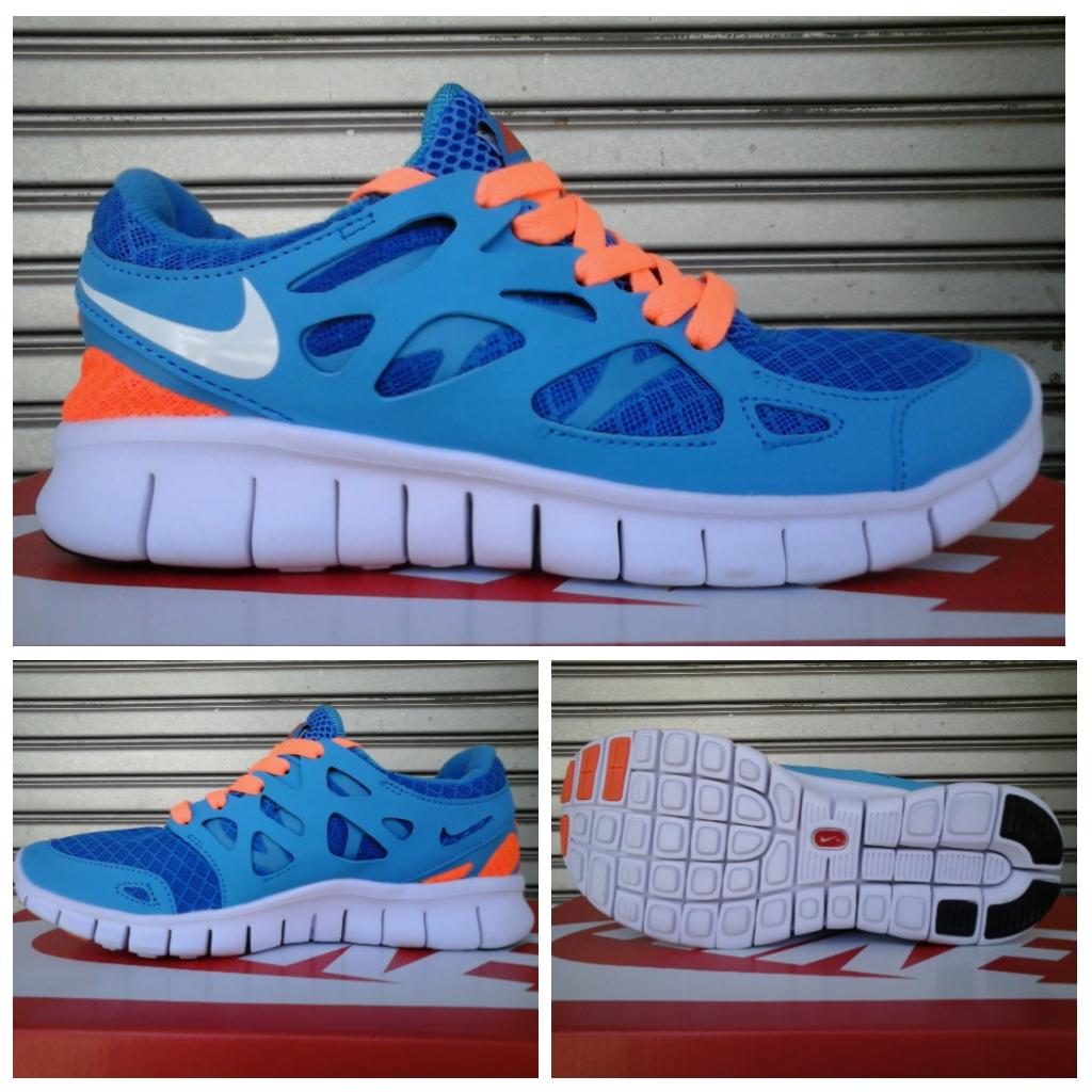 harga Sepatu Nike Free Run 2 Seablue Orange Original 100% Tokopedia.com
