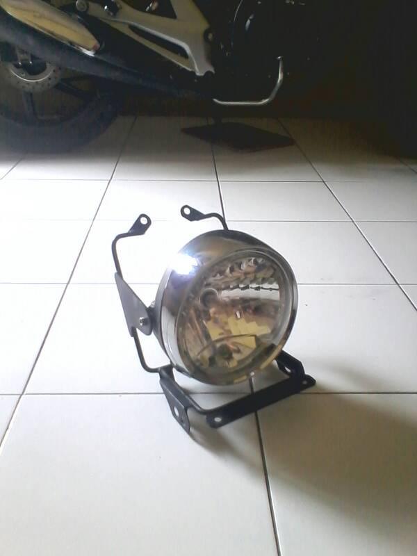 lampu ori tiger revo & breket pesek new megapro
