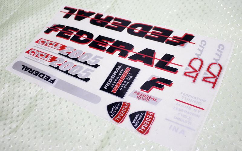 Sticker/Stiker Untuk Sepeda Federal