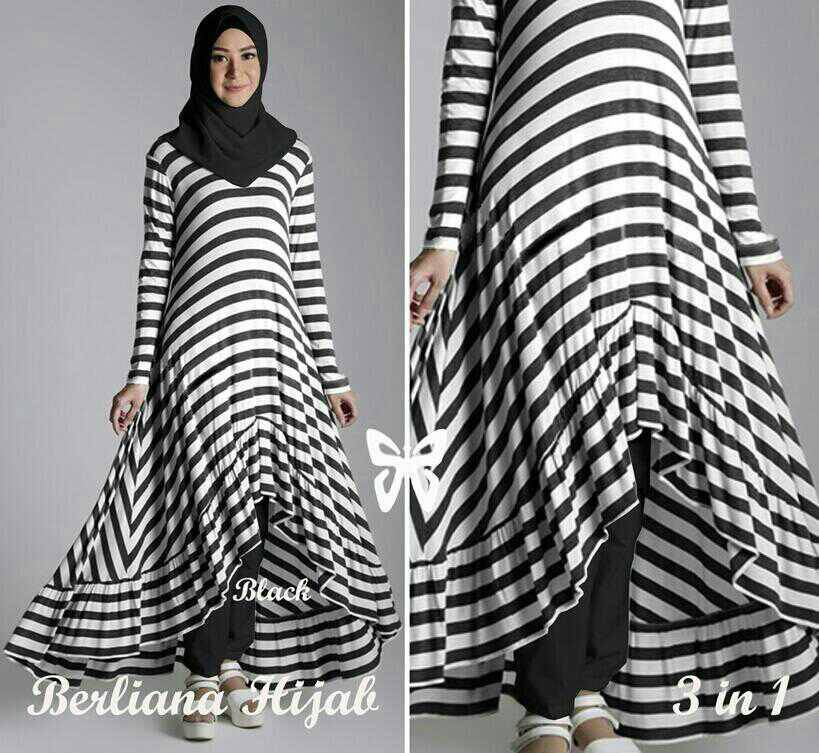 Berliana Hijab Salur Hitam