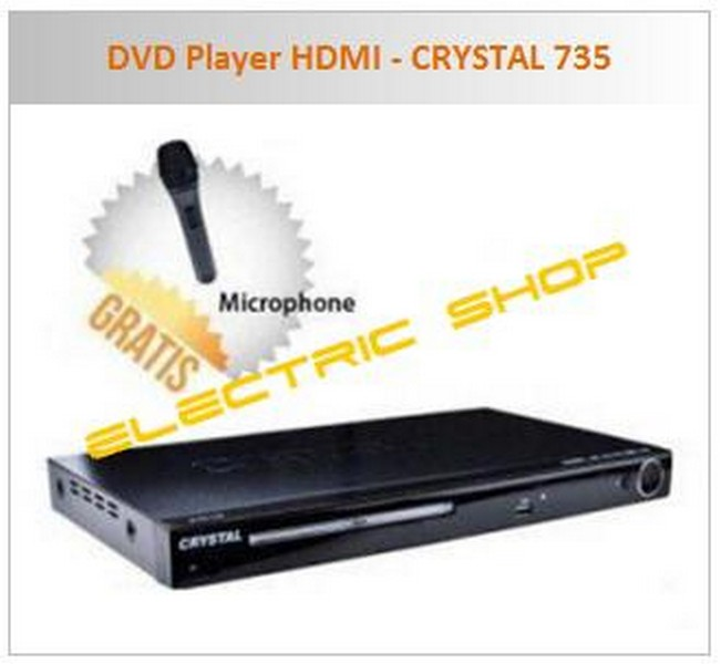 harga DVD Player HDMI - CRYSTAL 735 (Free Microphone) Tokopedia.com